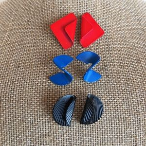 Set of 3 Vintage Shape Earrings
